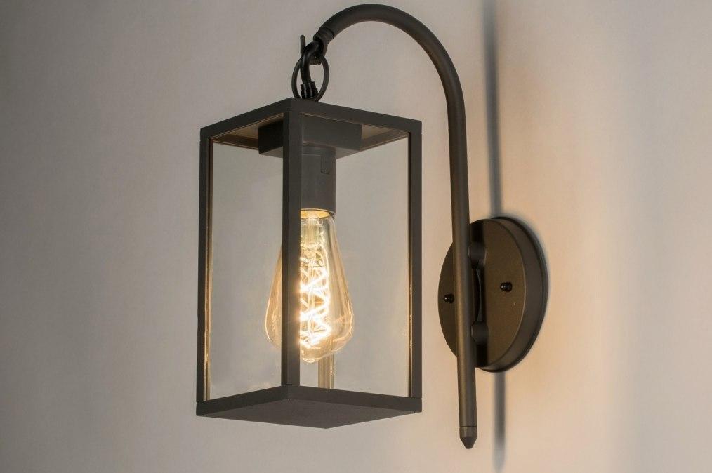 Wandlamp 30773: landelijk, rustiek, modern, aluminium #0