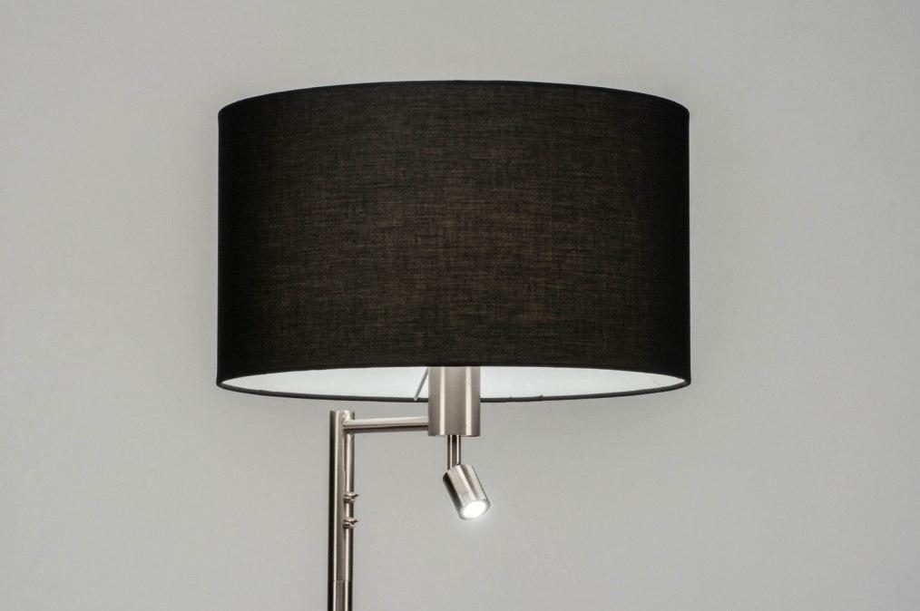 Vloerlamp 30775: modern, staal rvs, stof, metaal #0