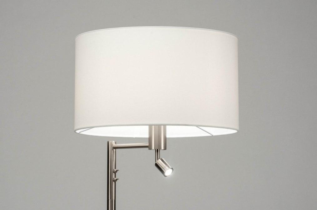 Vloerlamp 30776: modern, staal rvs, stof, metaal #0