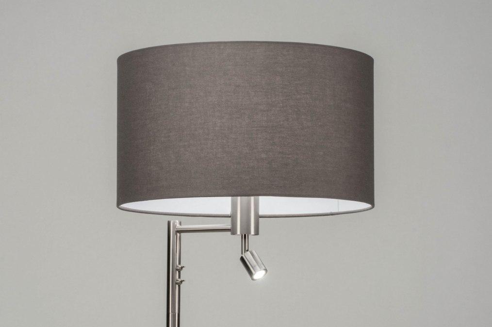Vloerlamp 30778: modern, staal rvs, stof, metaal #0