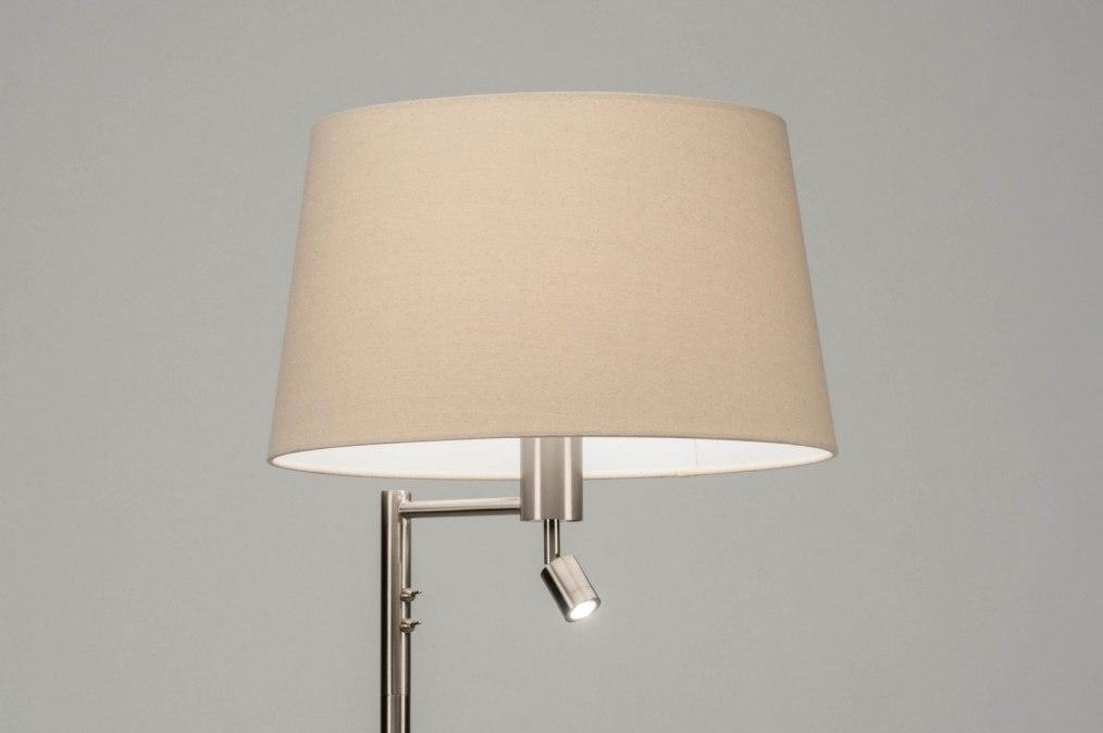Vloerlamp 30779: modern, staal rvs, stof, metaal #0