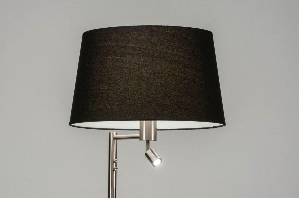 Vloerlamp 30781: modern, staal rvs, stof, metaal #0