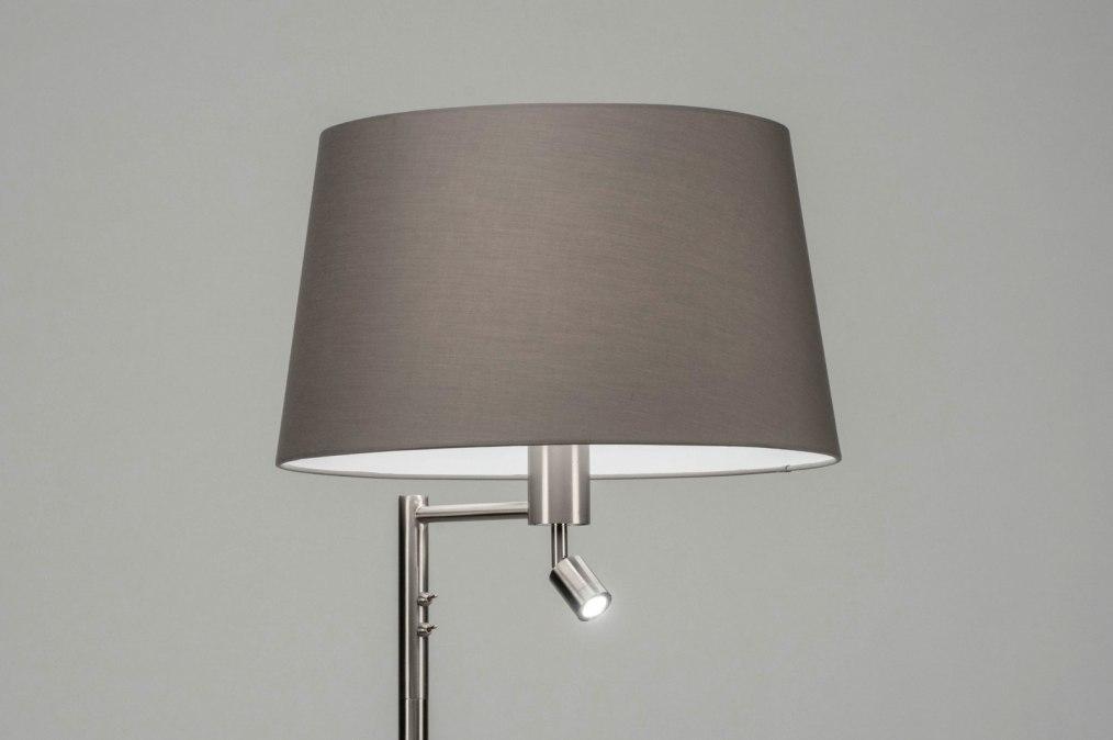 Vloerlamp 30782: modern, staal rvs, stof, metaal #0