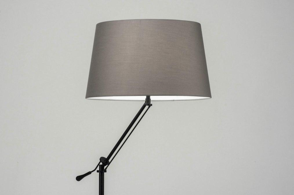 Vloerlamp 30783: modern, eigentijds klassiek, stof, metaal #0