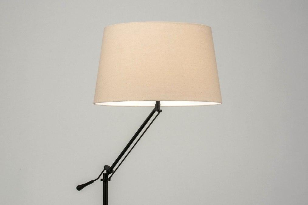 Vloerlamp 30784: modern, eigentijds klassiek, stof, metaal #0