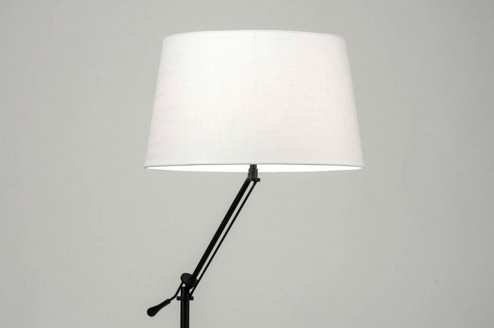 Vloerlamp 30785: modern, eigentijds klassiek, stof, metaal #0