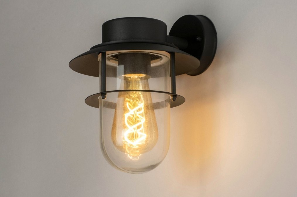Buitenlamp 30799: modern, eigentijds klassiek, glas, helder glas #0