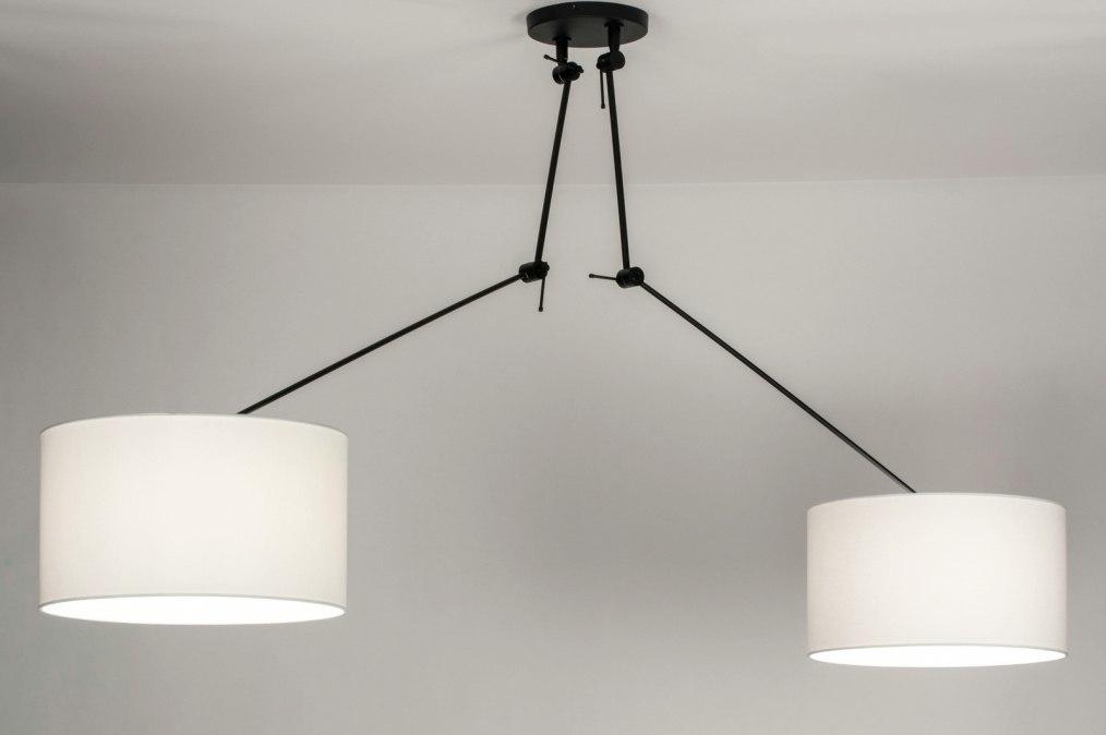 Hanglamp 30802: modern, stof, metaal, zwart #0