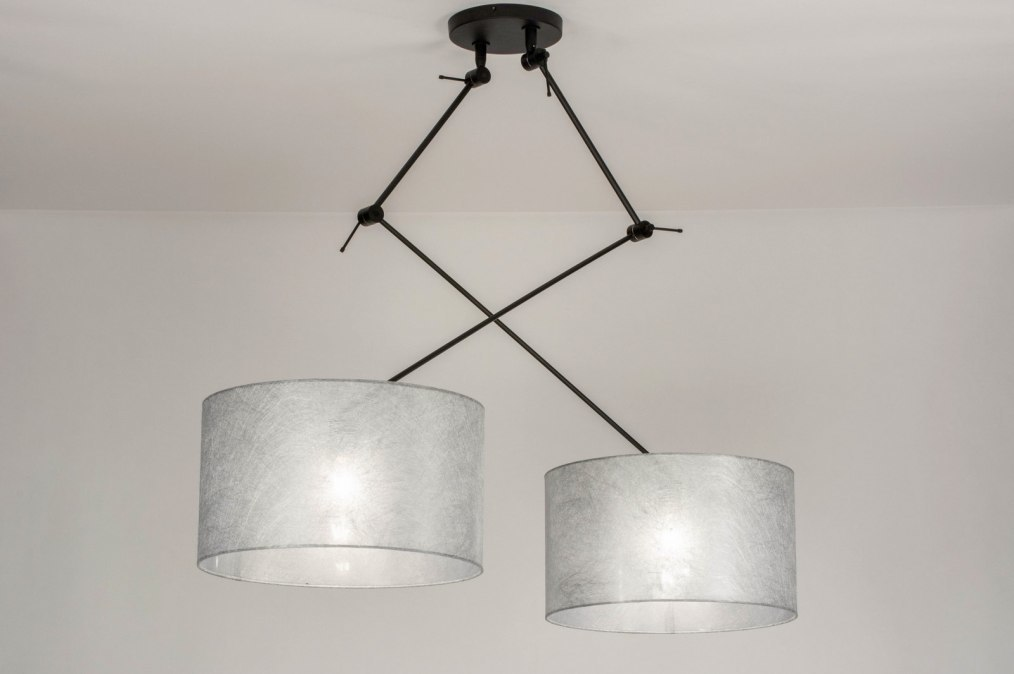 Pendant light 30803: modern, fabric, metal, black #0