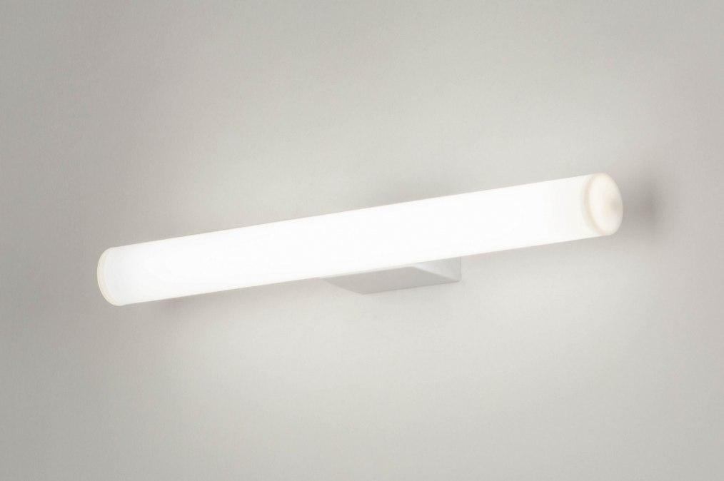 Wall lamp 30805: plastic, white, rectangular #0