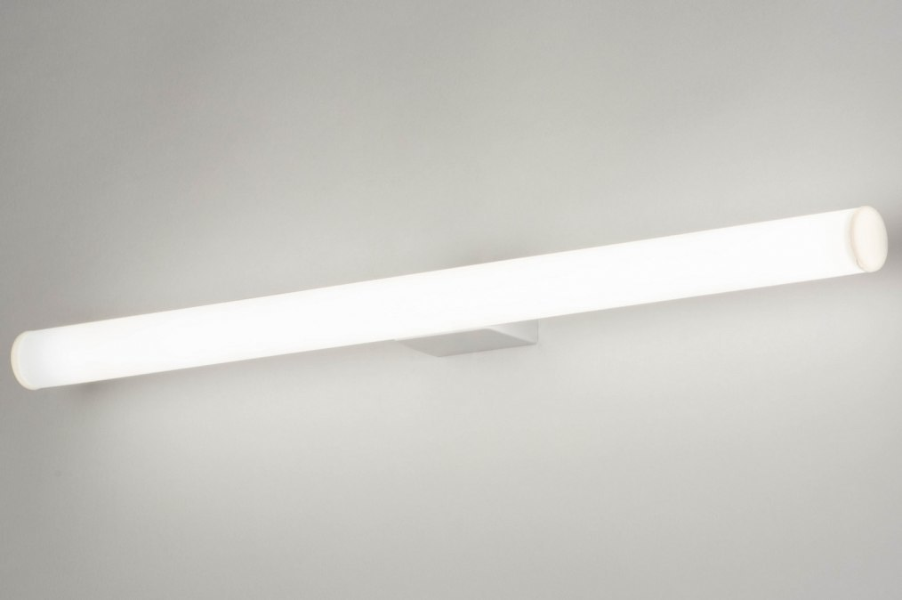 Wall lamp 30808: plastic, white, rectangular #0