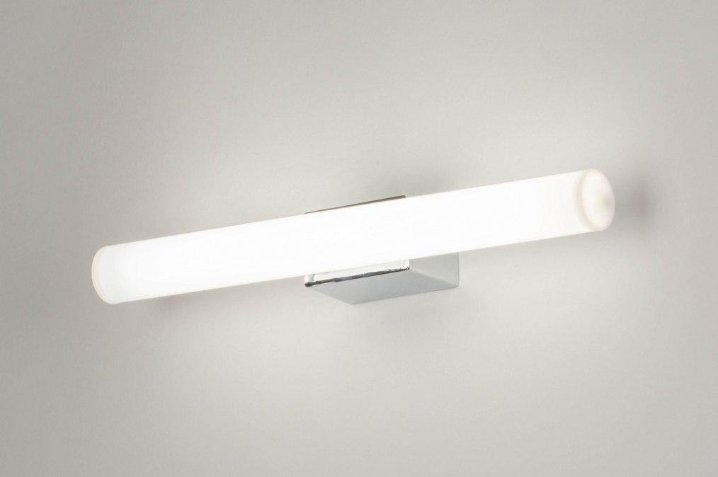Wall lamp 30811: plastic, metal, white, chrome #0