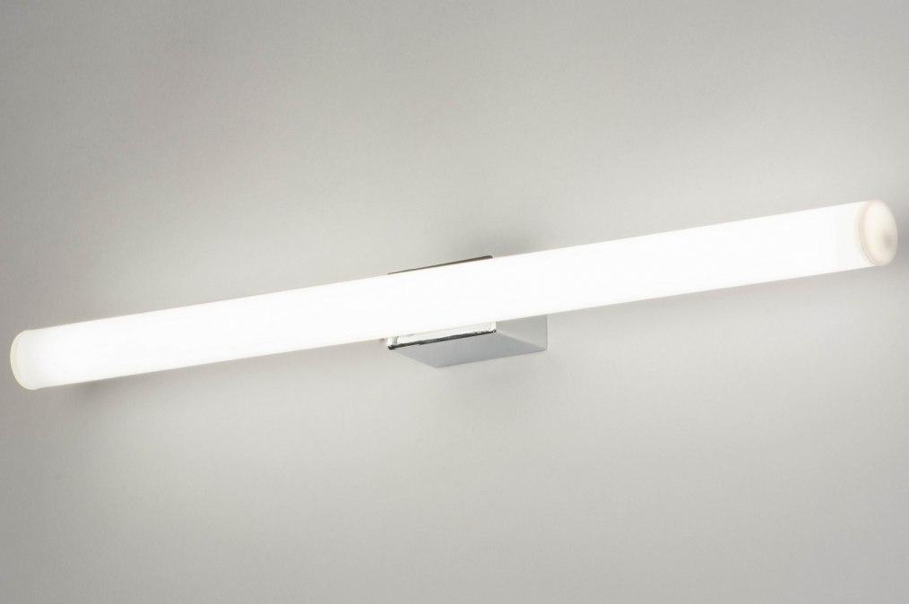 Wandlamp 30812: kunststof, metaal, wit, chroom #0