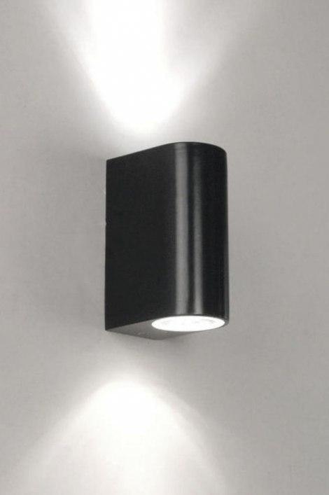 Wandlamp 30813: modern, metaal, zwart, mat #0