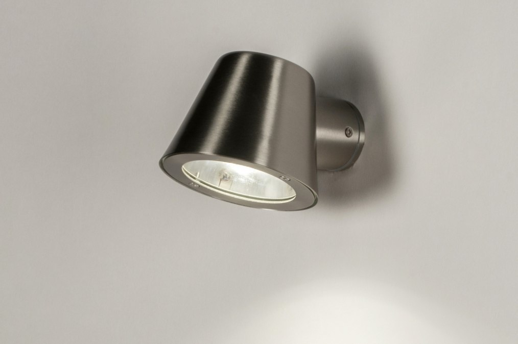 Wall lamp 30816: modern, stainless steel, metal, steel gray #0