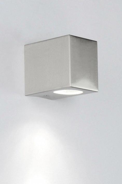 Buitenlamp 30829: modern, staal rvs, aluminium, staalgrijs #0