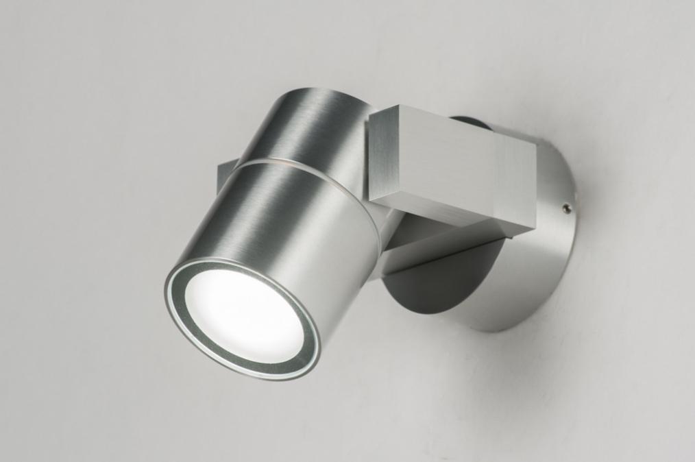 Wandlamp 30837: modern, aluminium, metaal, rond #0