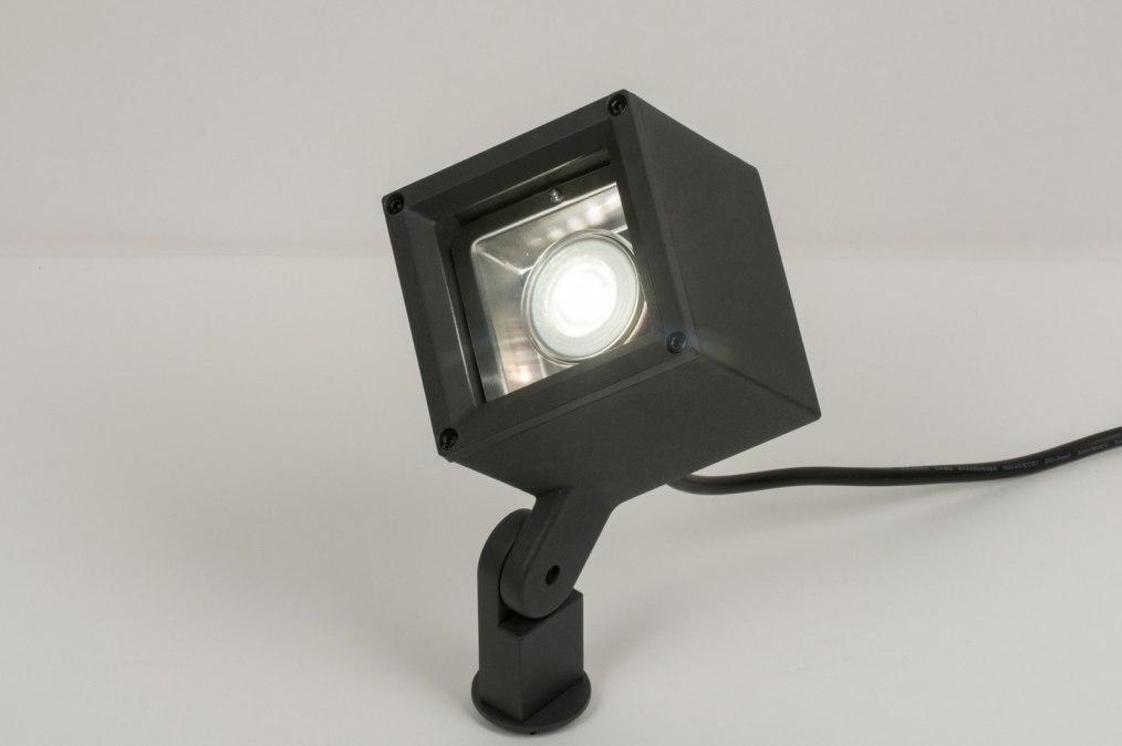 Buitenlamp 30846: modern, aluminium, metaal, zwart #0