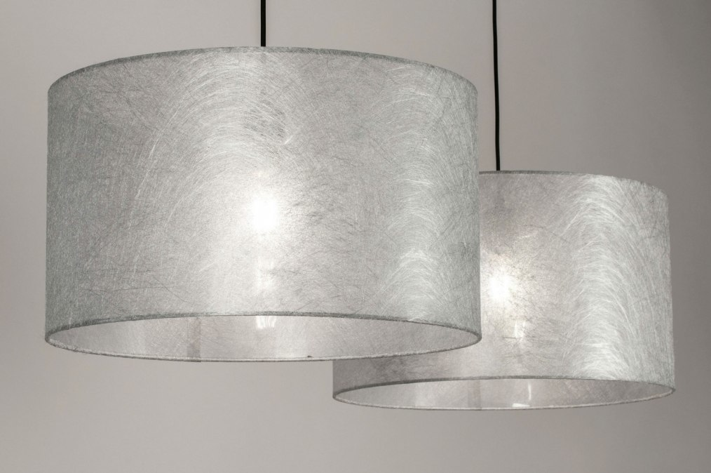Hanglamp 30859: modern, eigentijds klassiek, stof, metaal #0