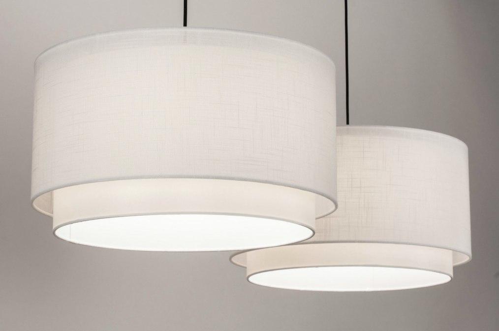Hanglamp 30861: landelijk, rustiek, modern, stof #0