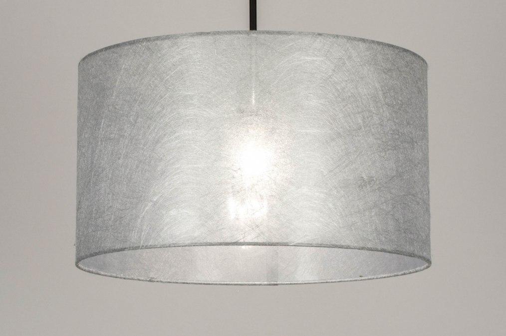 Hanglamp 30866: modern, stof, metaal, zwart #0