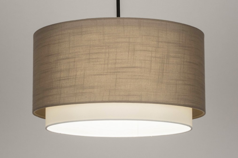 Pendant light 30869: rustic, modern, fabric, metal #0
