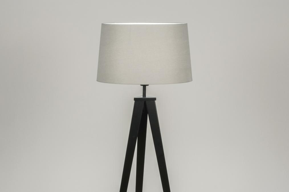 Lampadaire 30887: design, moderne, etoffe, acier #0
