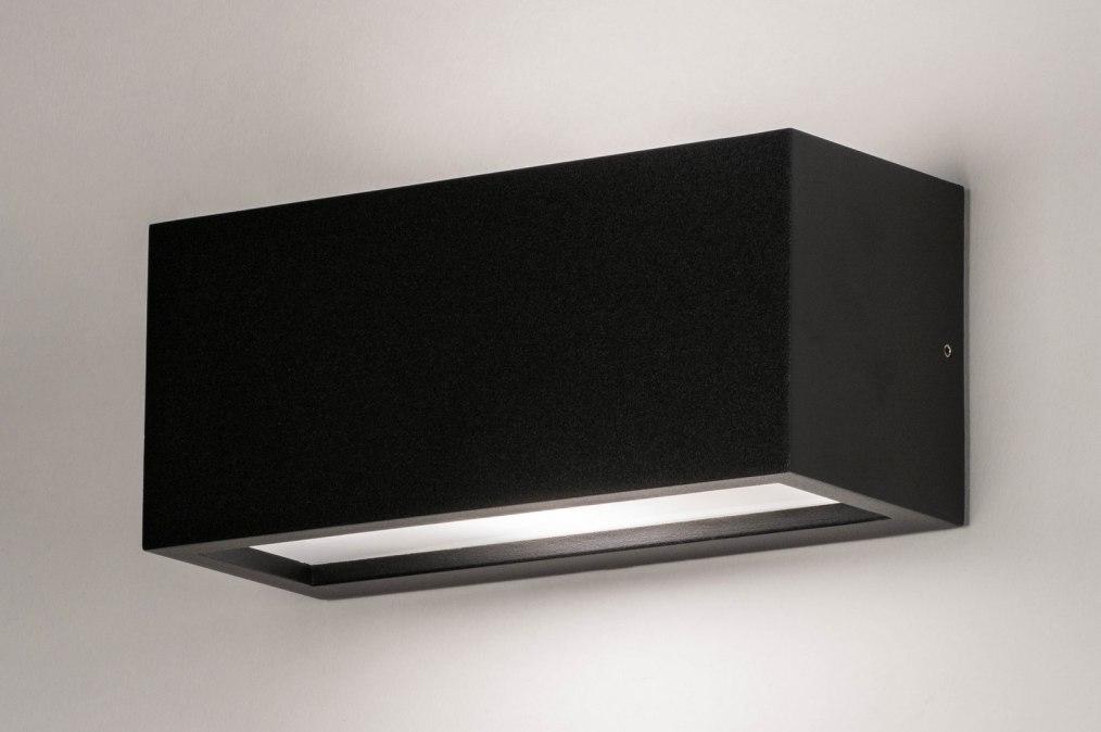 Wandlamp 30897: modern, aluminium, kunststof, polycarbonaat slagvast #0