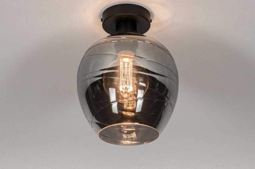 Plafondlamp 30938: modern, retro, eigentijds klassiek, glas #0