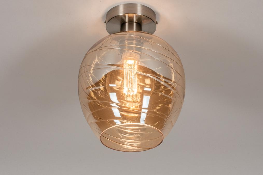 Plafondlamp 30941: modern, retro, eigentijds klassiek, glas #0