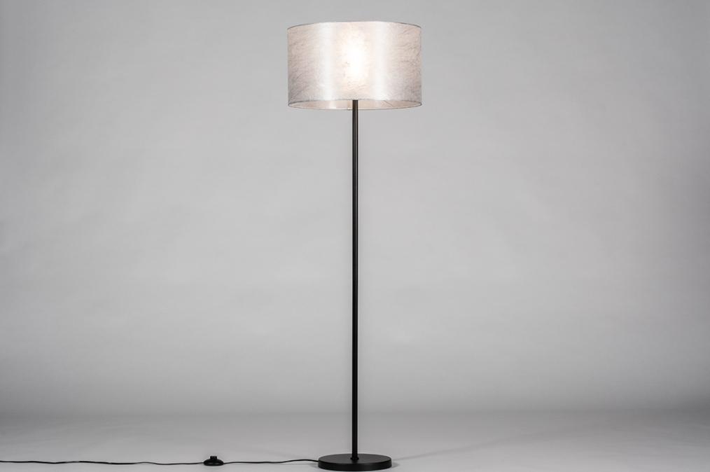 Vloerlamp 30971: landelijk, rustiek, eigentijds klassiek, stof #0