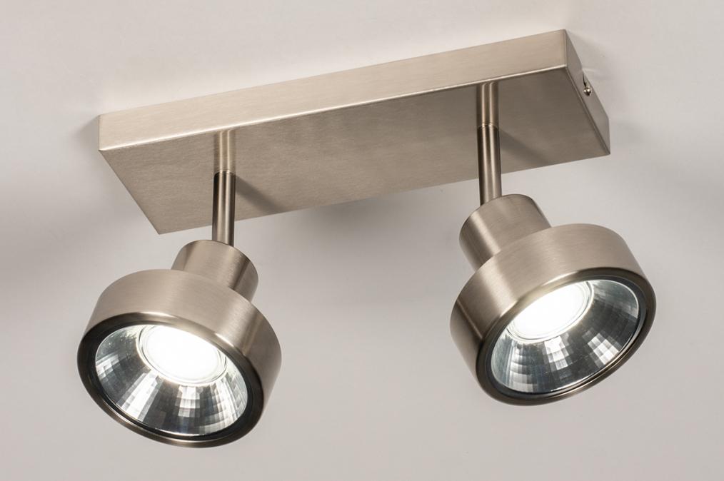 Spot 30988: modern, staal rvs, metaal, staalgrijs #0