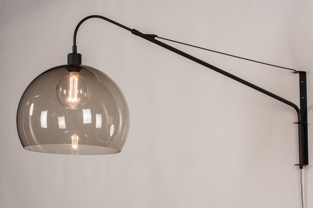 Wandlamp 30995: modern, retro, eigentijds klassiek, glas #0