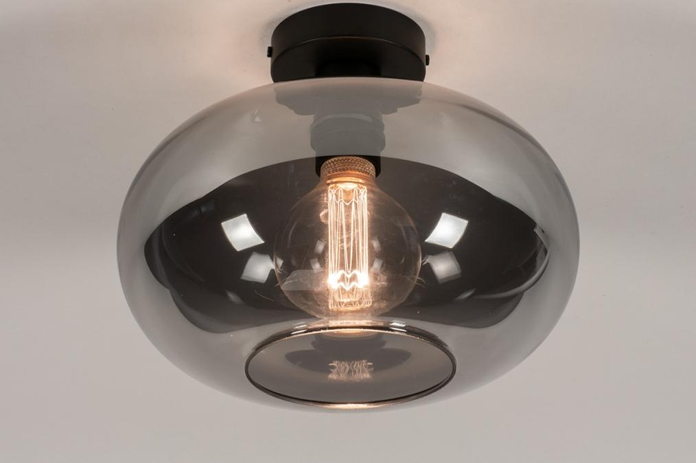 Plafondlamp 31002: modern, eigentijds klassiek, glas, metaal #0