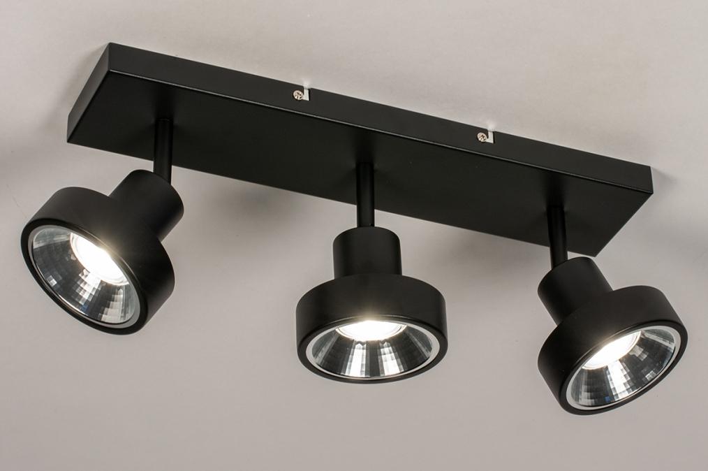 Spot 31020: modern, metaal, zwart, langwerpig #0