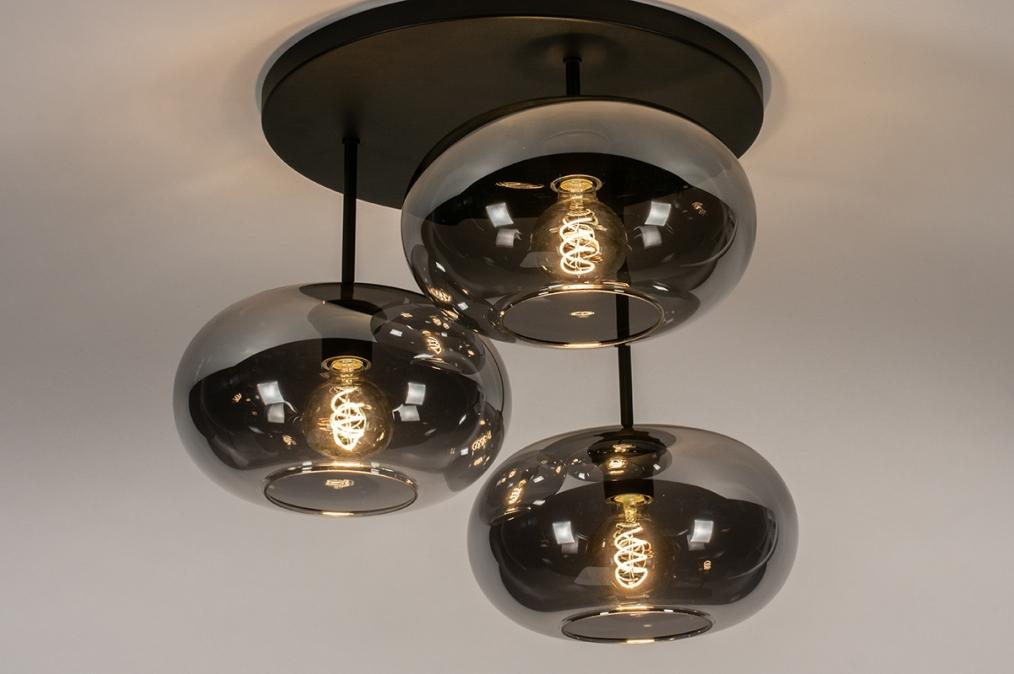 Plafondlamp 31037: modern, retro, eigentijds klassiek, glas #0