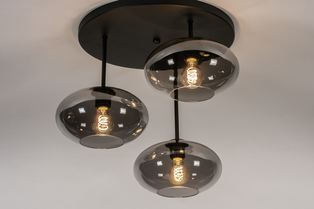 Plafondlamp 31039: modern, retro, eigentijds klassiek, glas #0