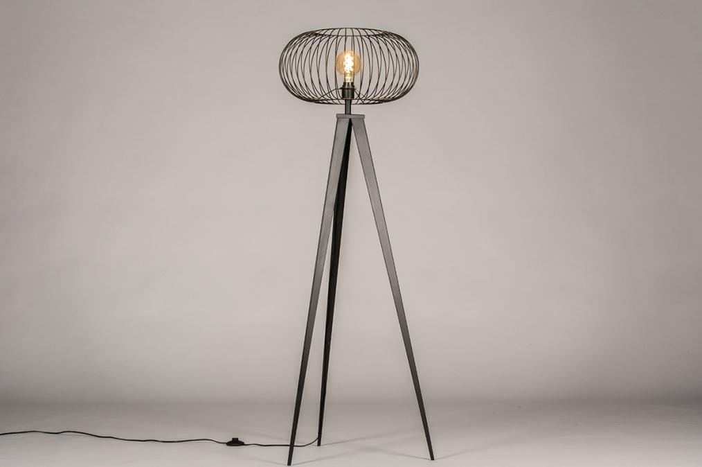 Vloerlamp 31046: industrie, look, landelijk, rustiek #0