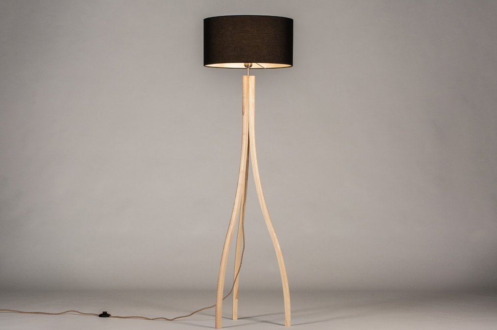 Vloerlamp 31048: design, modern, hout, licht hout #0