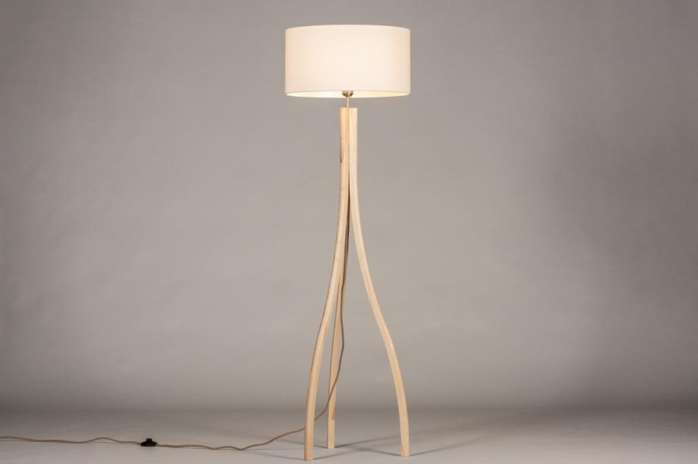 Vloerlamp 31049: landelijk, rustiek, modern, hout #0