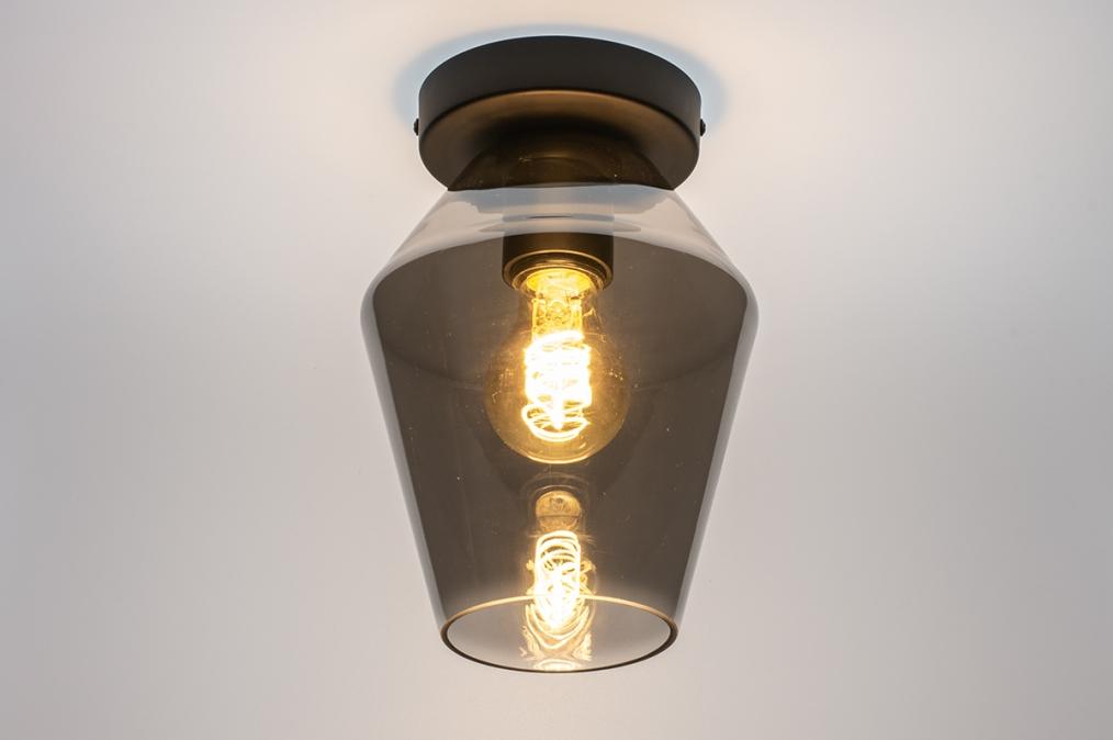 Plafondlamp 31051: modern, retro, eigentijds klassiek, glas #0