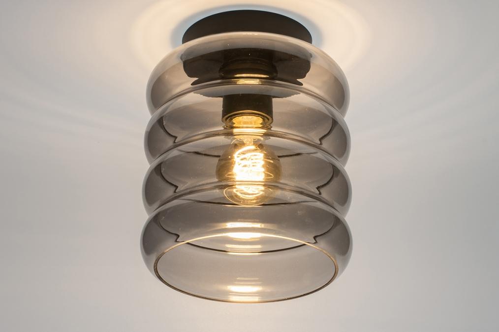 Plafondlamp 31053: modern, retro, eigentijds klassiek, glas #0