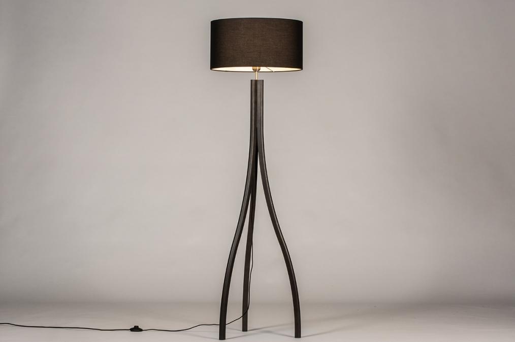 Vloerlamp 31056: design, modern, eigentijds klassiek, hout #0