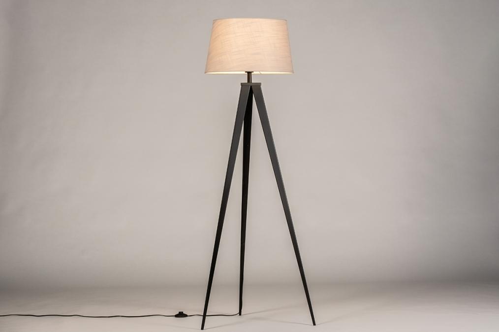 Vloerlamp 31062: design, modern, stof, metaal #0