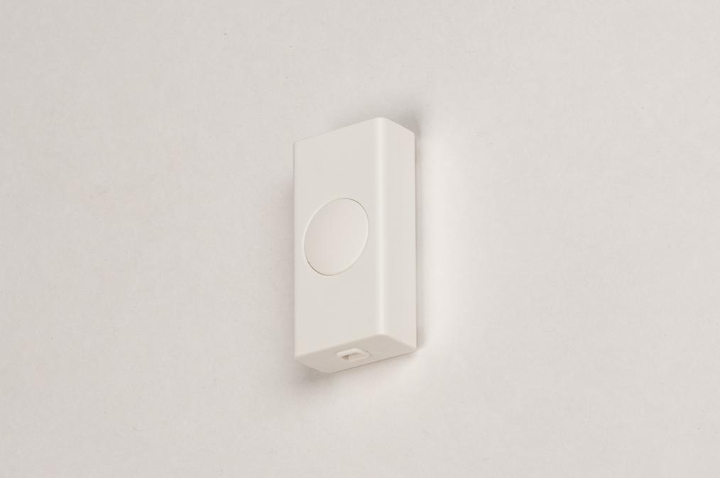 Dimmer 318: kunststof, wit, rechthoekig #0