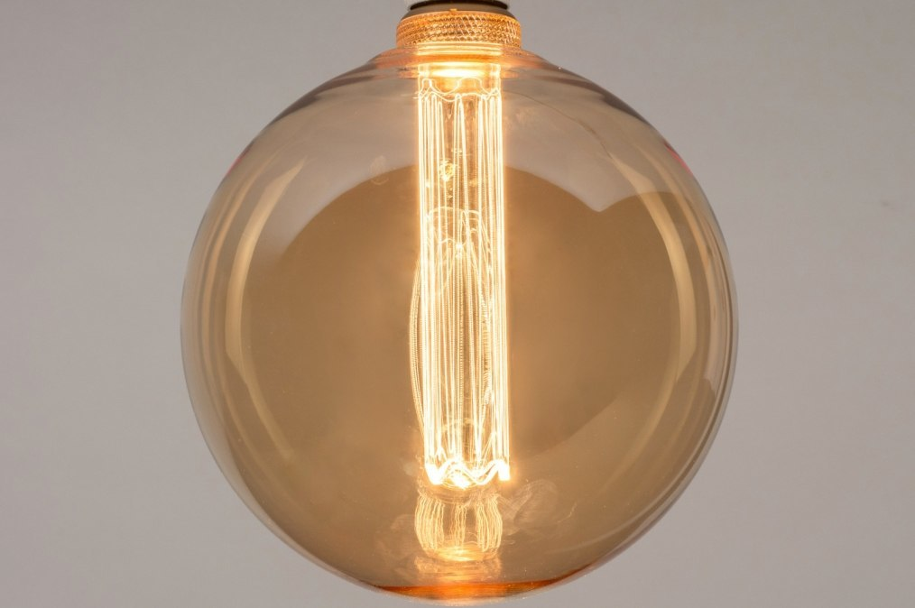 Lichtbron 335: glas, zacht geel, rond #0