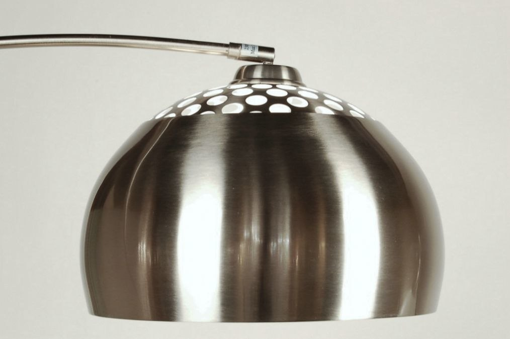 Floor lamp 523: modern, retro, stainless steel, round #0