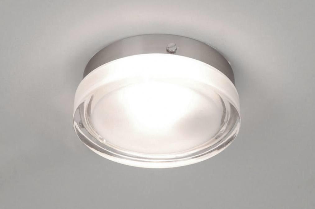 Plafondlamp 53827: modern, retro, glas, helder glas #0
