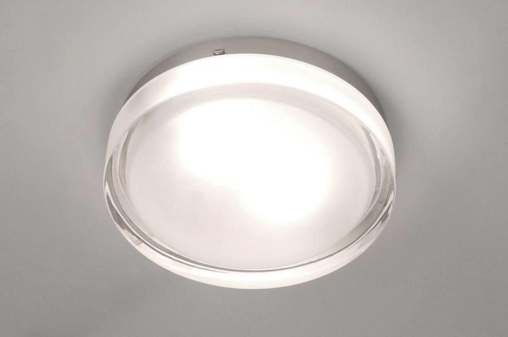 Plafondlamp 53829: modern, retro, glas, helder glas #0