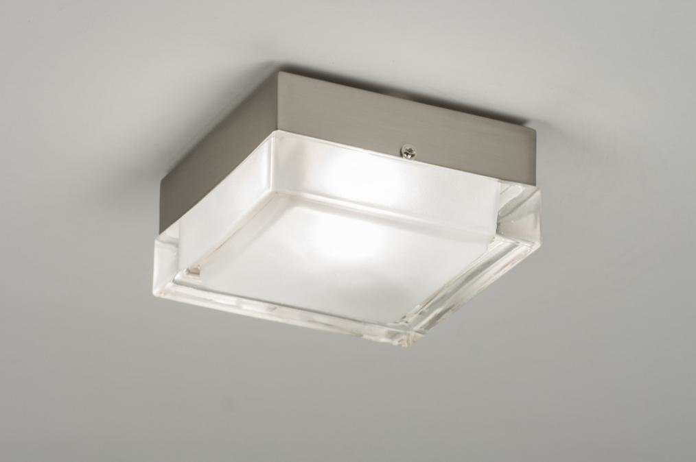 Ceiling lamp 53831: modern, retro, glass, clear glass #0